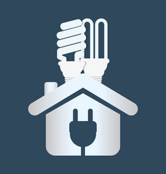 Home energy ecology bulb plug vector