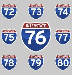 Interstate sings 72-80 vector