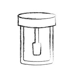 Isolated laboratory test bottle vector