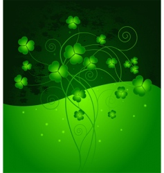 lucky clover background vector image vector image