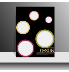 Magazine cover with pieces of colored paperfor vector