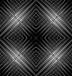 Monochrome stripy endless pattern art continuou vector
