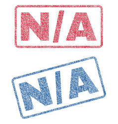 n-a textile stamps vector image