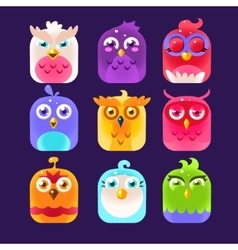Owl icon collection vector