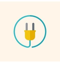 Plug flat icon vector