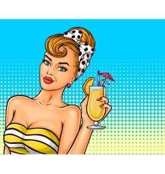 pop art sexy girl vector image vector image