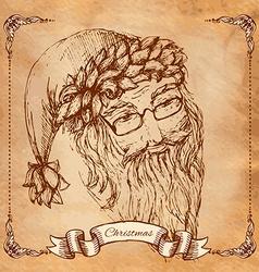 Santa Claus hand drawn llustration realistic vector image