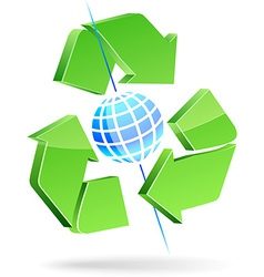 Save earth symbol vector image vector image