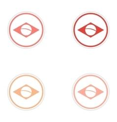 Set of stickers brazil logo on white background vector