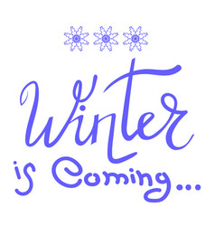 winter typographic lettering vector image vector image