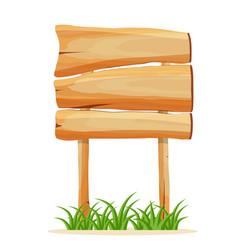 wooden empty signboard icon vector image vector image