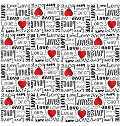 alentine pattern with black color love text vector image