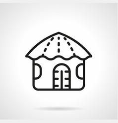 hawaiian hut simple line icon vector image