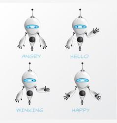 Cartoon robot pack vector