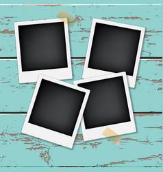 Instant vintage photos frames vector
