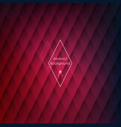 abstract rhombic red background for your designs vector image