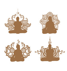 Meditation set vector