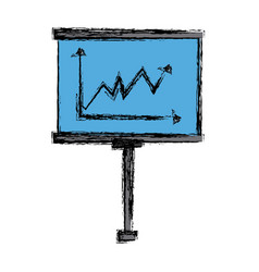 Presentation board with market data and statistics vector