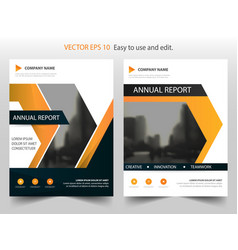 Orange triangle abstract annual report brochure vector