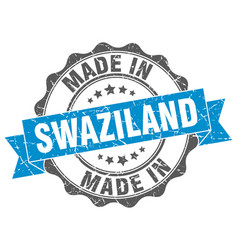 Made in swaziland round seal vector