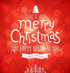 christmas red bg vector image