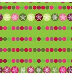 Festive seamless pattern christmas snowflakes on vector