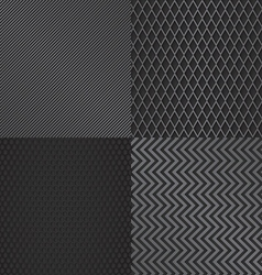 Abstract mtetal grill pattern background set vector