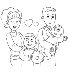 Coloring family vector