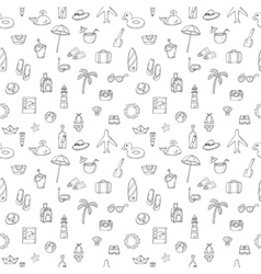 Cute hand drawn summer time theme seamless pattern vector
