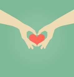 Hand making heart symbol love concept vector