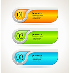 Shine horizontal options banners or buttons vector