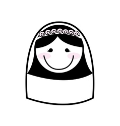 Happy wife isolated icon design vector