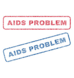 Aids problem textile stamps vector