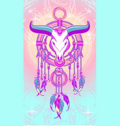 aztec dreamcatcher vector image vector image