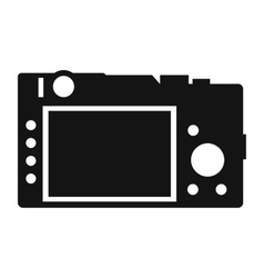 Back of the camera simple icon vector