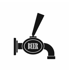 Black beer tap icon simple style vector image vector image