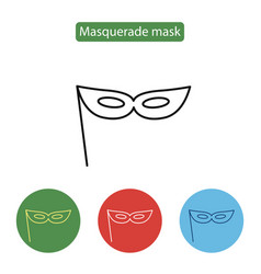 carnival mask icon line icon outline sign vector image vector image