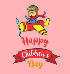 childrens day celebration design collection vector image vector image