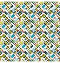 Different batteries seamless pattern vector