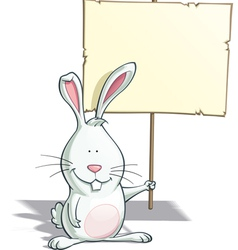 Easter bunny placard vector