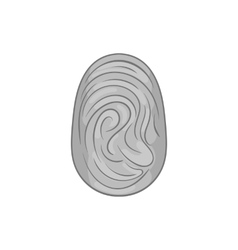Fingerprint icon black monochrome style vector image