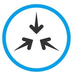 Impact arrows rounded icon vector