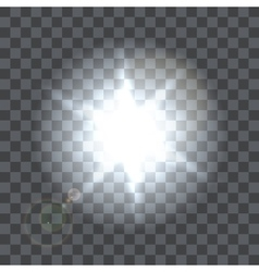 Lens flare beam on transparent background vector image
