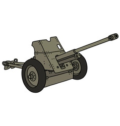 Old gray cannon vector