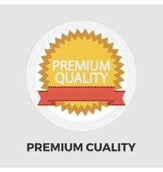 Premium Quality icon flat vector image vector image