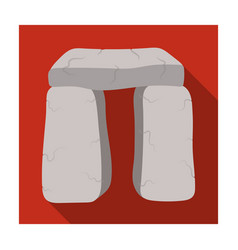 Scottish stone monument icon in flat style vector