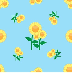 Seamless pattern sunflower vector image vector image