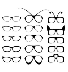 Set of glasses frame in fancy style vector