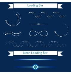 Set of modern loading bars on a dark background vector image vector image