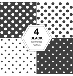 Set with seamless polka dot pattern vector image